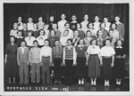 Westwood View 8th Grade Class -- 1952-53  Top row (L to R): Pat Simmons, Elizabeth Gandy, Judy Bilger, Nancy Fordyce, Bi
