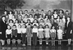 Merriam Grade School. Submitted by Mary Sue (Childers) Foster. Fourth Grade  Middle Row Lt to Rt ?, Sheron Gould, Phoebe