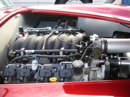 Chevy engine in a Shelby Cobra (very unusal)