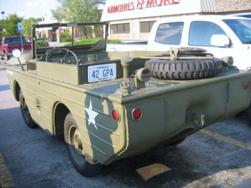 Military Amphibian on Jeep Chassis