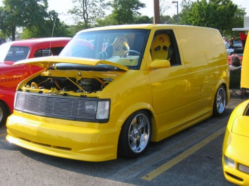 We think? Chevy Astro Van Highly Modified