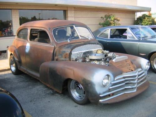 46 - 48 Chevy 2 Door Sedan Work in Progress (this indicates the amount of work finished cars require)