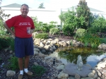 Tha's me infront of the water feature we built.
