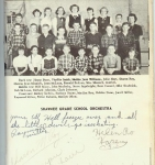 Shawnee Grade School Orchestra  Back Row:  Jimmy Dunn, Phyllis Smith, Martha Jane Williams, Julie Hoyt, Sharon Roy, Marc
