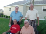 The Elstons (Bill and Margie)visiting Elbo at The Village in Florida. Don Flowers, Elbo, Doug Farmer (Bill's pledge bro