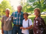 Carolyn and Charles Schultz, Carol Culp Bybee, Barbara Roark Passmore Hickory Grove Reunion