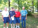 Bill Garrett,  Bob Gallagher,  Bob (Warren's brother),  Warren Haskin,  Charles Schultz at Antioch Park