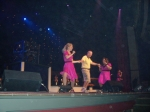 Bob Deane onstage in Branson, showing his stuff with the Lowe Sisters.  Yep, he was set up, but he had a good time as yo