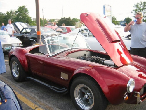 Shelby Cobra that has in it Chevy engine see next pic of engine