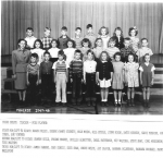 1947 - 48 Third Grade Teacher Miss Platner submitted by Roger Pulley