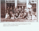 1944/45 Miss Golden Morning Kindergarten Class Halloween Costume Picture  submitted by Roger Pulley and Jim Nixon