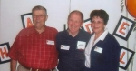 Wilbert (Sonny) miller,  Gordon Kauffman,  Barbara 'New' Smith at Overland Park Grade School Reunion
