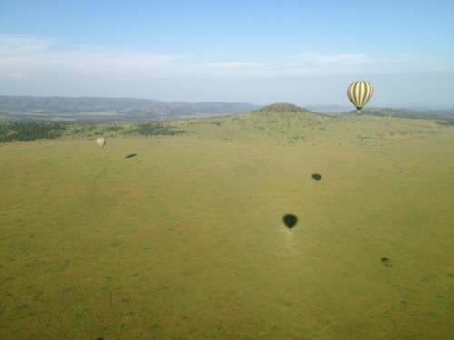 Christmas day from our balloon 500 ft. over the Serengeti Plain.